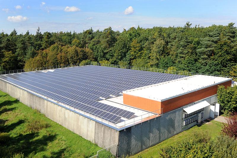 Solaranlage auf dem Wasserwerk